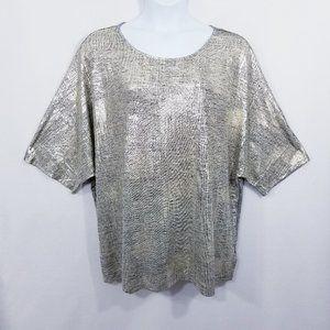 Worthington Metallic Gold/Silver Blouse - 3X - NWT